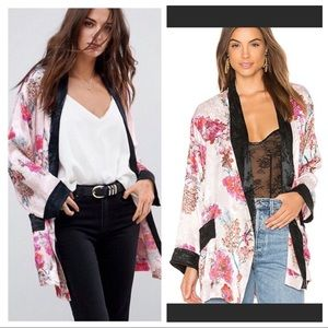 Intimately Free People ladies who lunch robe pink